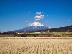 Mount Fuji and Dr.Yellow train