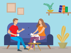 Conversation in a home setting